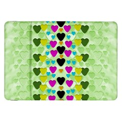 Summer Time In Lovely Hearts Samsung Galaxy Tab 8 9  P7300 Flip Case