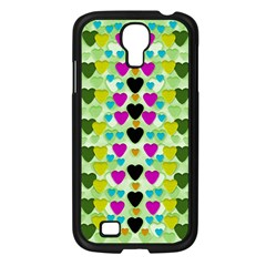 Summer Time In Lovely Hearts Samsung Galaxy S4 I9500/ I9505 Case (black)