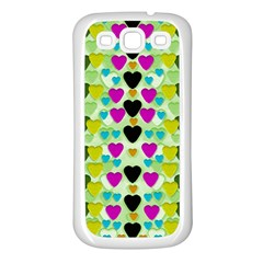 Summer Time In Lovely Hearts Samsung Galaxy S3 Back Case (white)