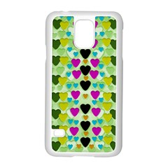 Summer Time In Lovely Hearts Samsung Galaxy S5 Case (white)