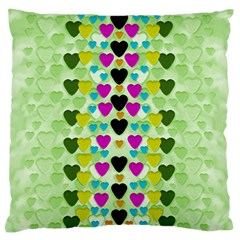 Summer Time In Lovely Hearts Standard Flano Cushion Case (one Side)