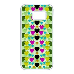 Summer Time In Lovely Hearts Samsung Galaxy S7 White Seamless Case