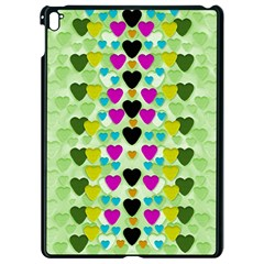 Summer Time In Lovely Hearts Apple Ipad Pro 9 7   Black Seamless Case