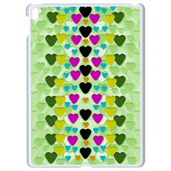 Summer Time In Lovely Hearts Apple Ipad Pro 9 7   White Seamless Case