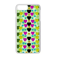 Summer Time In Lovely Hearts Apple Iphone 8 Plus Seamless Case (white)