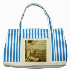 Lady 2523423 1920 Striped Blue Tote Bag