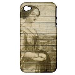 Lady 2523423 1920 Apple Iphone 4/4s Hardshell Case (pc+silicone)