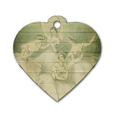 Ballet 2523406 1920 Dog Tag Heart (two Sides)