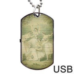 Ballet 2523406 1920 Dog Tag Usb Flash (one Side)