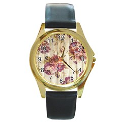 On Wood 1897174 1920 Round Gold Metal Watch