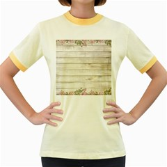 On Wood 2188537 1920 Women s Fitted Ringer T Shirts