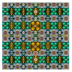 Rainbow Flowers And Decorative Peace Large Satin Scarf (square)