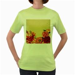 Flower 1646035 1920 Women s Green T Shirt