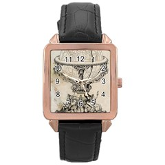 Globe 1618193 1280 Rose Gold Leather Watch