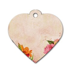 Flower 1646045 1920 Dog Tag Heart (two Sides)