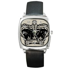 Crown 1515871 1280 Square Metal Watch