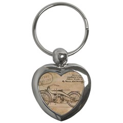 Motorcycle 1515873 1280 Key Chains (heart)