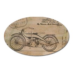Motorcycle 1515873 1280 Oval Magnet