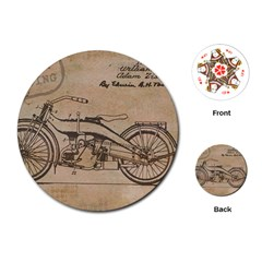 Motorcycle 1515873 1280 Playing Cards (round)