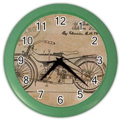 Motorcycle 1515873 1280 Color Wall Clocks
