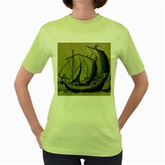 Ship 1515875 1280 Women s Green T Shirt