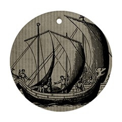 Ship 1515875 1280 Round Ornament (two Sides)