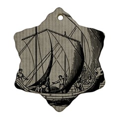Ship 1515875 1280 Snowflake Ornament (two Sides)
