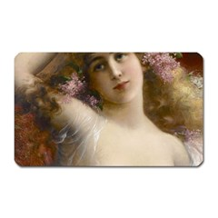 Victorian Lady In Pink Magnet (rectangular)