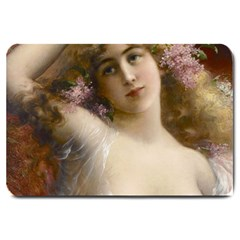 Victorian Lady In Pink Large Doormat