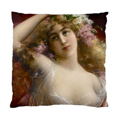 Victorian Lady In Pink Standard Cushion Case (one Side)