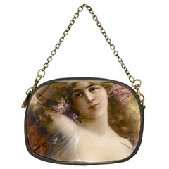 Victorian Lady In Pink Chain Purses (two Sides)