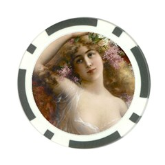 Victorian Lady In Pink Poker Chip Card Guard (10 Pack)