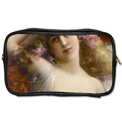 Victorian Lady In Pink Toiletries Bags 2 Side