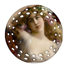 Victorian Lady In Pink Ornament (round Filigree)