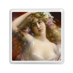 Victorian Lady In Pink Memory Card Reader (square)