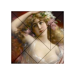 Victorian Lady In Pink Acrylic Tangram Puzzle (4  X 4 )