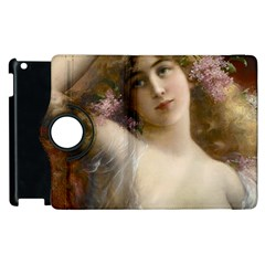 Victorian Lady In Pink Apple Ipad 3/4 Flip 360 Case