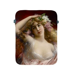 Victorian Lady In Pink Apple Ipad 2/3/4 Protective Soft Cases