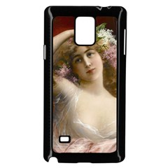 Victorian Lady In Pink Samsung Galaxy Note 4 Case (black)