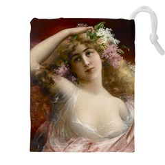 Victorian Lady In Pink Drawstring Pouches (xxl)