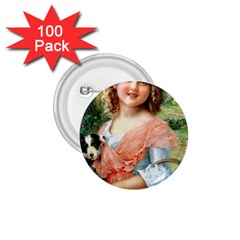 Girl With Dog 1 75  Buttons (100 Pack)