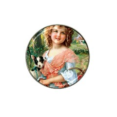 Girl With Dog Hat Clip Ball Marker (10 Pack)