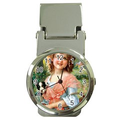 Girl With Dog Money Clip Watches