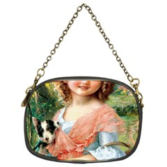 Girl With Dog Chain Purses (two Sides)