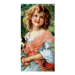 Girl With Dog Shower Curtain 36  X 72  (stall)