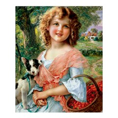 Girl With Dog Shower Curtain 60  X 72  (medium)