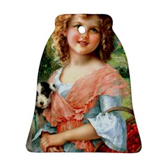 Girl With Dog Ornament (bell)