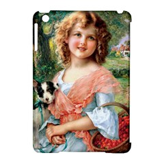 Girl With Dog Apple Ipad Mini Hardshell Case (compatible With Smart Cover)
