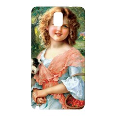 Girl With Dog Samsung Galaxy Note 3 N9005 Hardshell Back Case