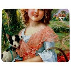 Girl With Dog Jigsaw Puzzle Photo Stand (rectangular)